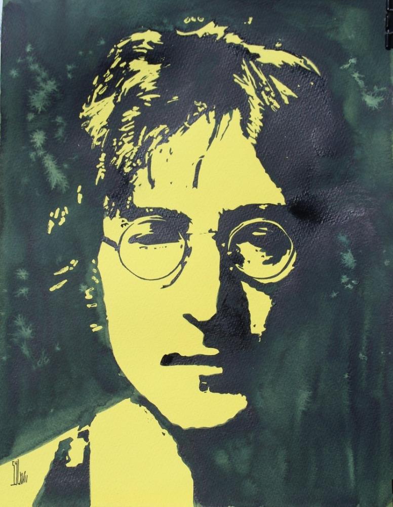 John Lennon by aquarelle-autrement